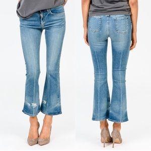 Rag & Bone High Rise 10 Inch Flare Vale Crop Jeans